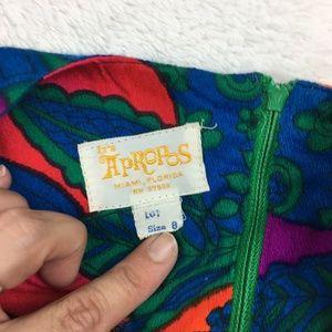 Vintage Pants - VTG 60s Tropical Playsuit Romper Pant Floral Boho